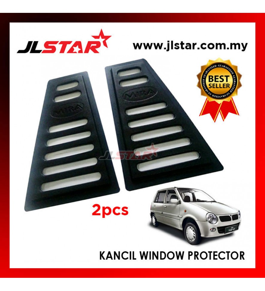 TRIANGLE MIRROR COVER PERODUA KANCIL BLACK REAR SIDE WINDOW PROTECTOR