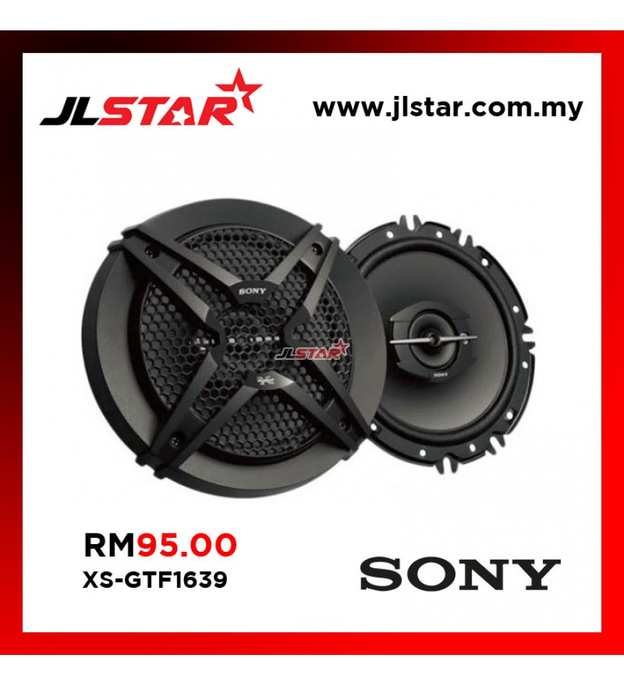 "SONY XS-GTF1639 6.5"" 270WATTS 3-WAY CAR COAXIAL SPEAKER SYSTEM"