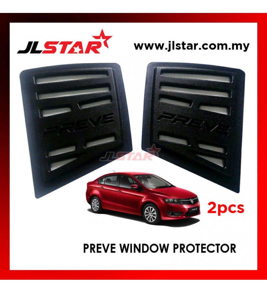 TRIANGLE MIRROR COVER PROTON PREVE BLACK REAR SIDE WINDOW PROTECTOR