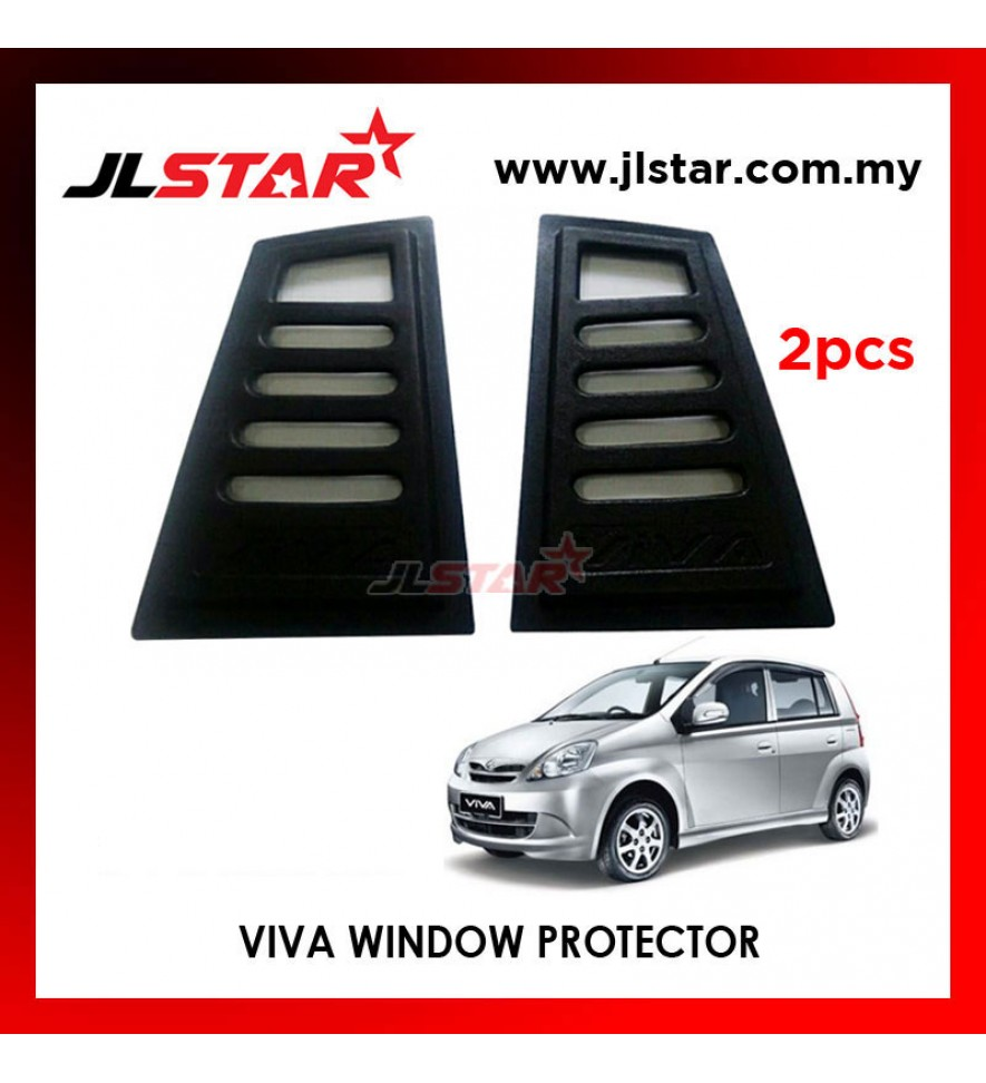 TRIANGLE MIRROR COVER PERODUA VIVA BLACK REAR SIDE WINDOW PROTECTOR