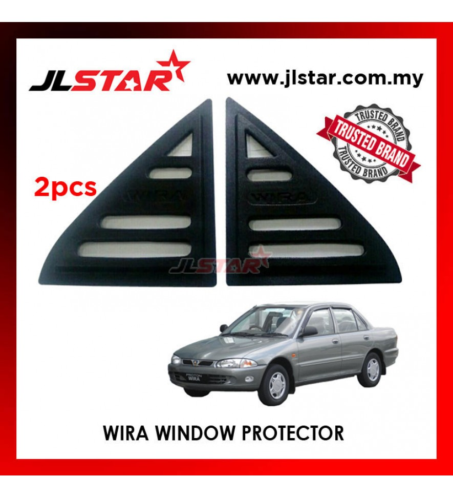 TRIANGLE MIRROR COVER PROTON WIRA BLACK REAR SIDE WINDOW PROTECTOR