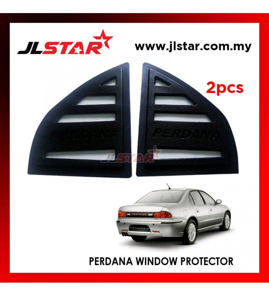TRIANGLE MIRROR COVER PROTON PERDANA '95-'98 BLACK REAR SIDE WINDOW PROTECTOR