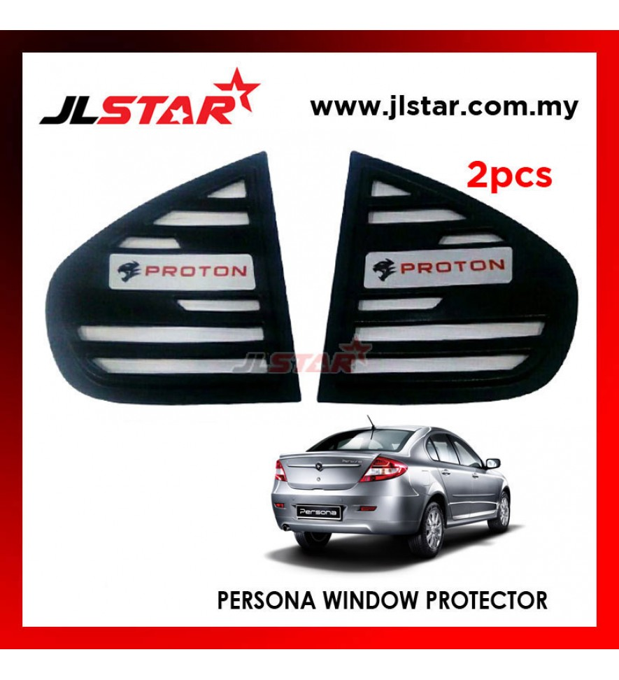 TRIANGLE MIRROR COVER PROTON PERSONA BLACK REAR SIDE WINDOW PROTECTOR
