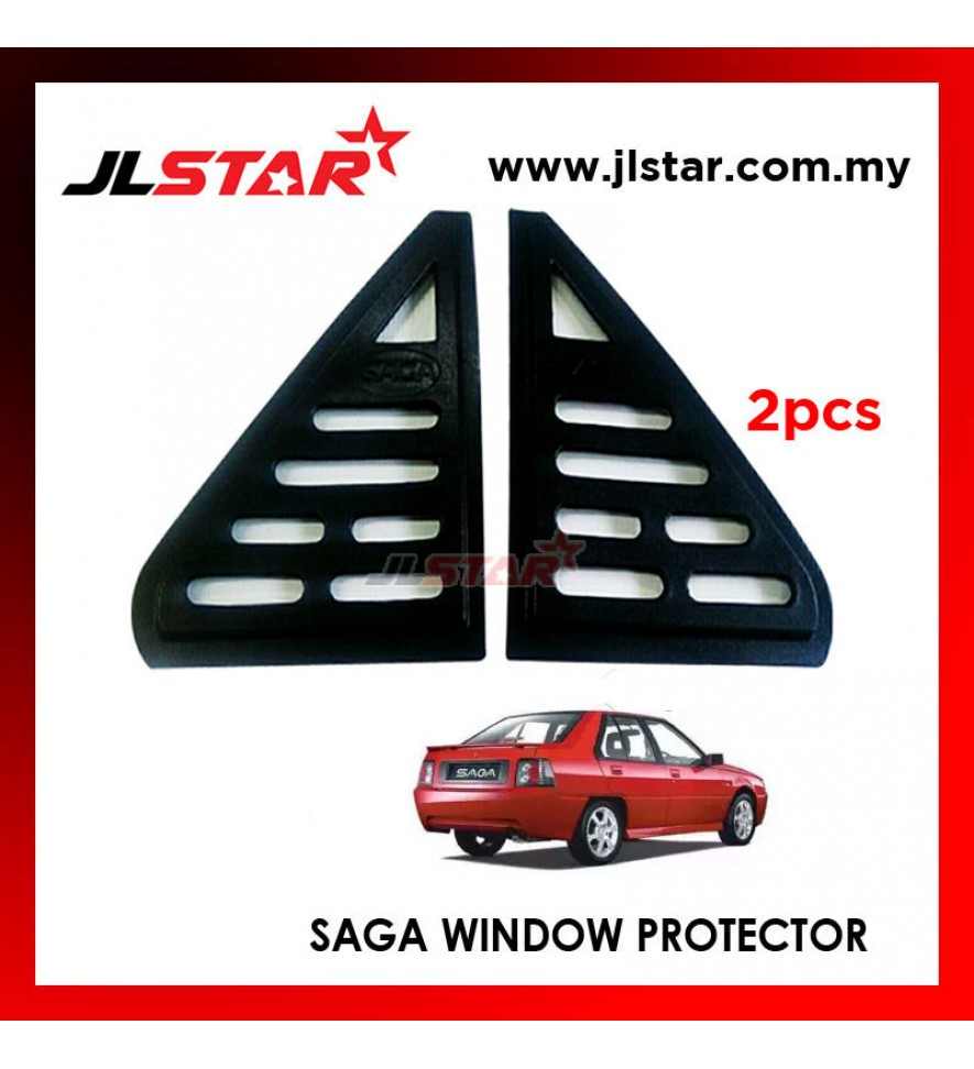 TRIANGLE MIRROR COVER PROTON SAGA BLACK REAR SIDE WINDOW PROTECTOR