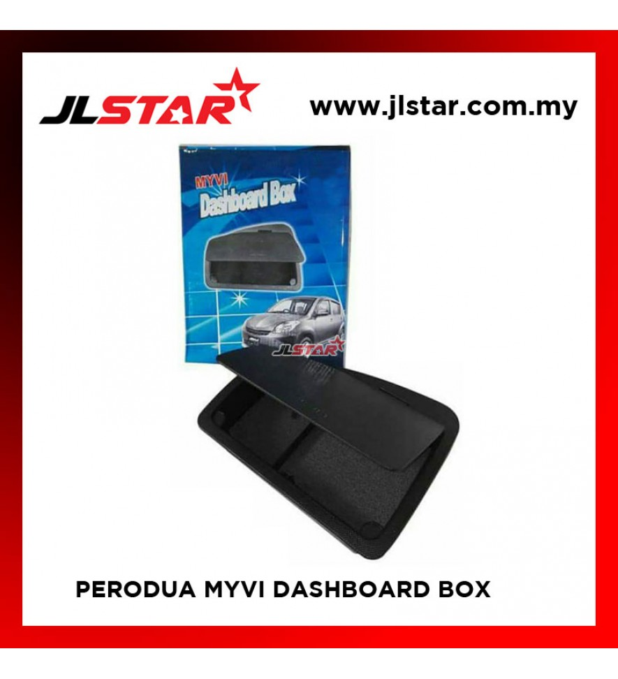 PERODUA MYVI DASHBOARD BOX COMPARTMENT ORGANISER COLOR BLACK