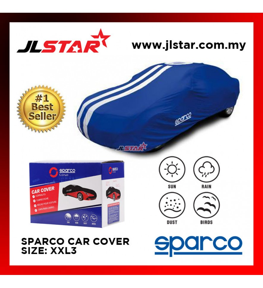 SPARCO CAR COVER SIZE XXL3 - BLUE