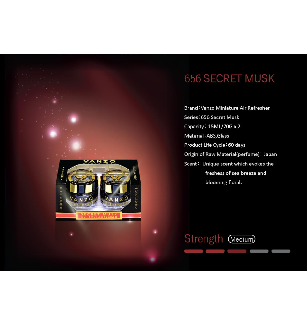 VANZO 656 SECRET MUSK AIR FRESHENER (MINI)