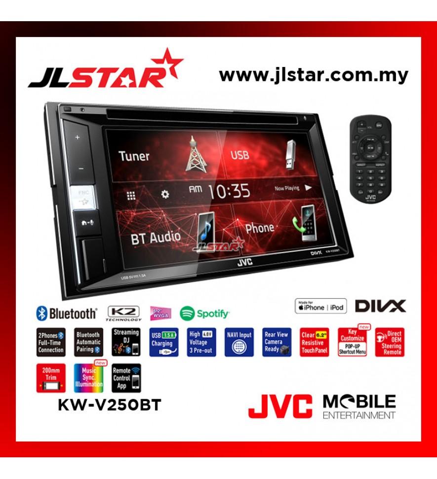 "JVC KW-V250BT DVD/CD/USB RECEIVER 6.2"""