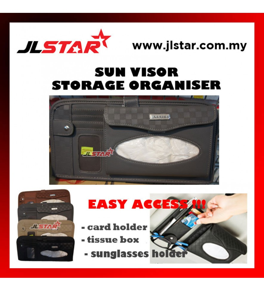 3IN1 SUN VISOR STORAGE ORGANISER