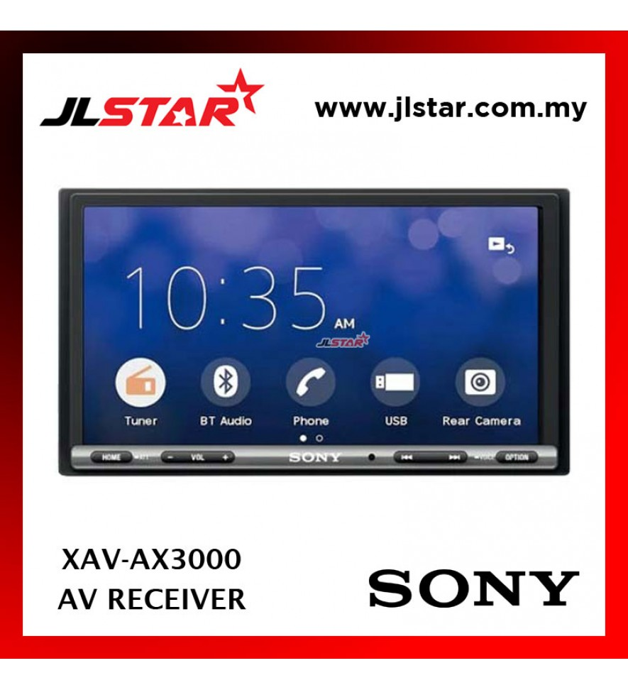 SONY XAV-AX3000 MEDIA RECEIVER WITH BLUETOOTH