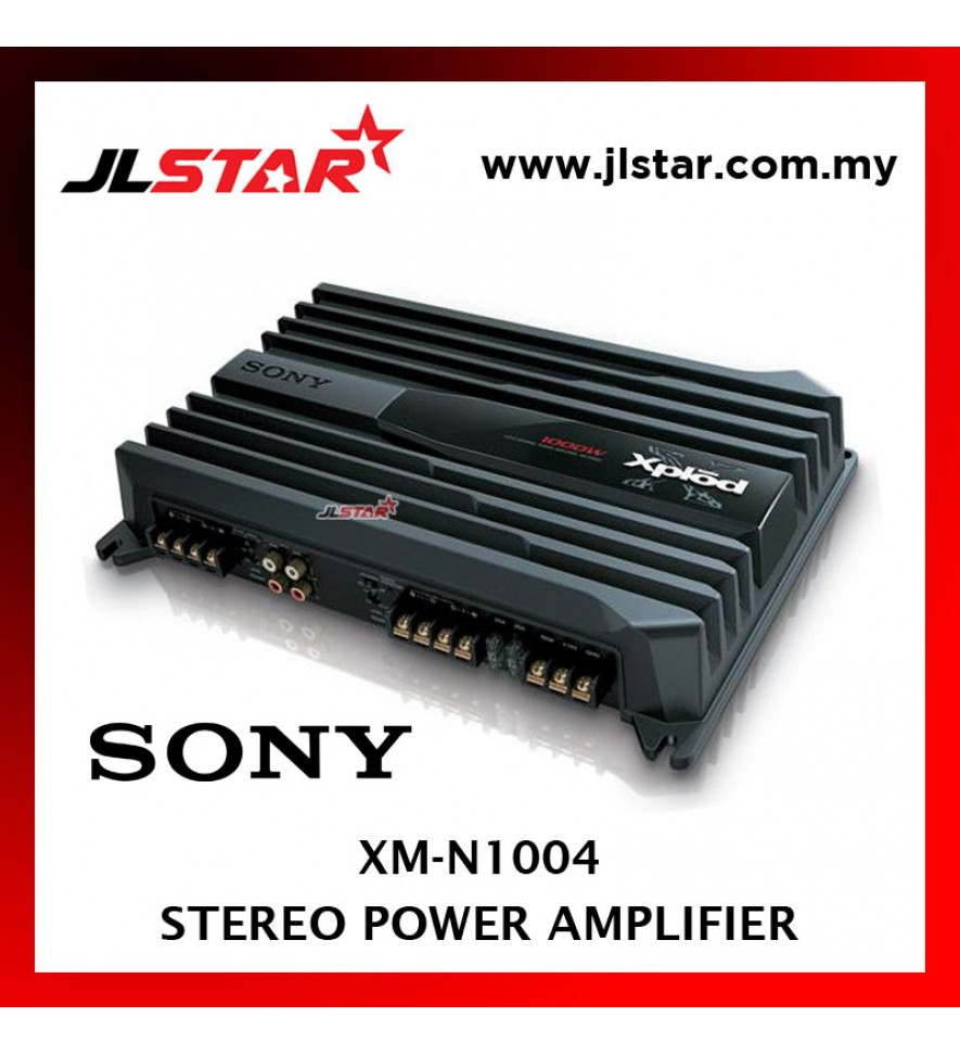 SONY XM-N1004 4-CHANNEL CAR AMPLIFIER 70 WATTS RMS x 4