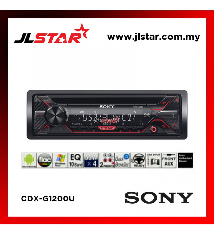 SONY CDX-G1200U CD USB AUX IN CAR RADIO STEREO RECEIVER SINGLE DIN PLAYER