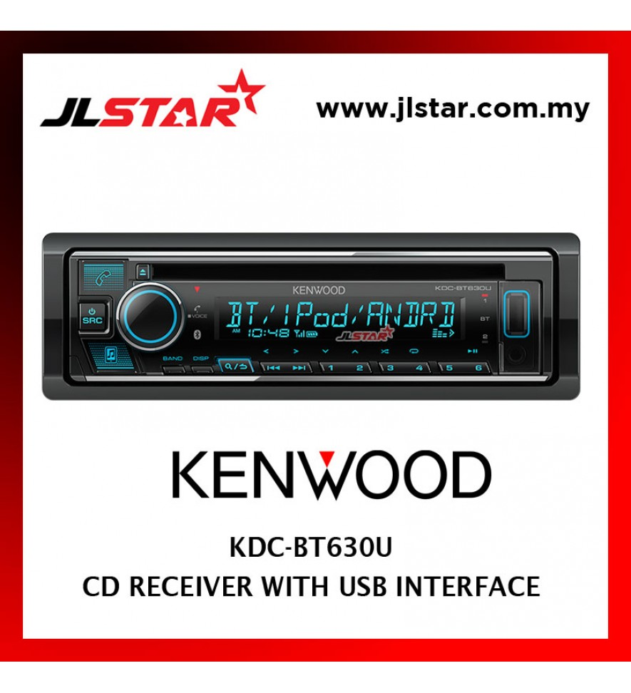 KENWOOD KDC-BT630U USB / CD RECEIVER SINGLE DIN PLAYER