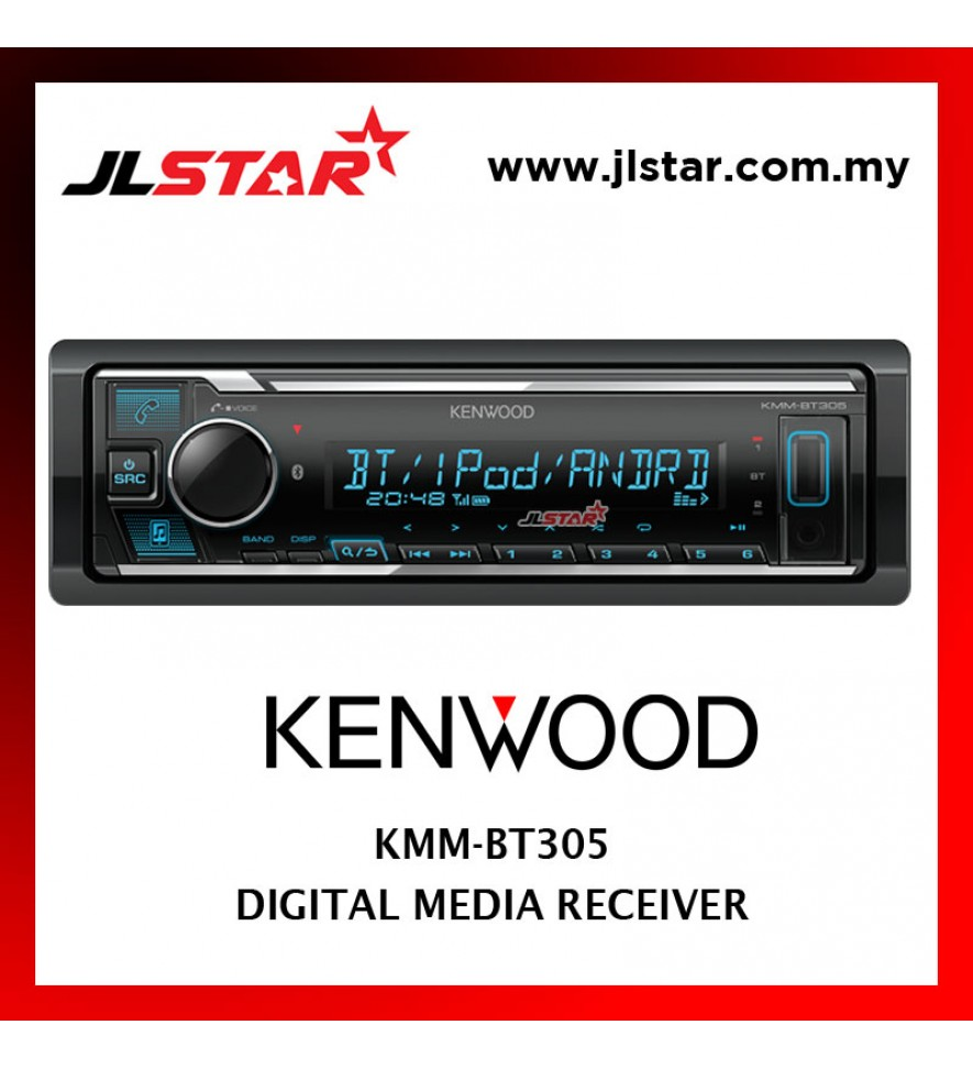 KENWOOD KMM-BT305 USB RECEIVER SINGLE DIN