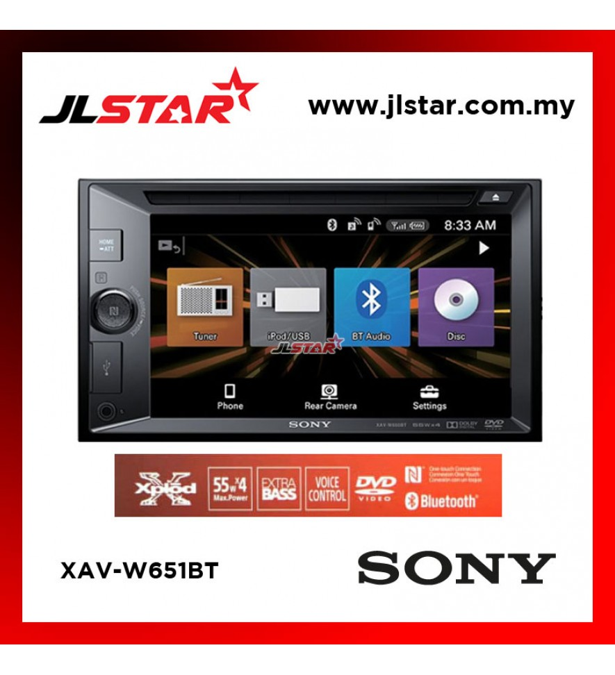 "SONY XAV-W651BT 6.2"" LCD DVD RECEIVER CAR STEREO"