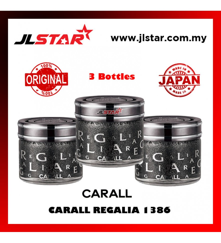 3 X 100% ORIGINAL CARALL REGALIA ENRICH 1386 VELVET MUSK CAR PERFUME AIR FRESHENER 65ML
