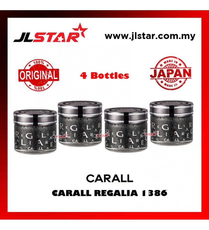 4 X 100% ORIGINAL CARALL REGALIA ENRICH 1386 VELVET MUSK CAR PERFUME AIR FRESHENER 65ML