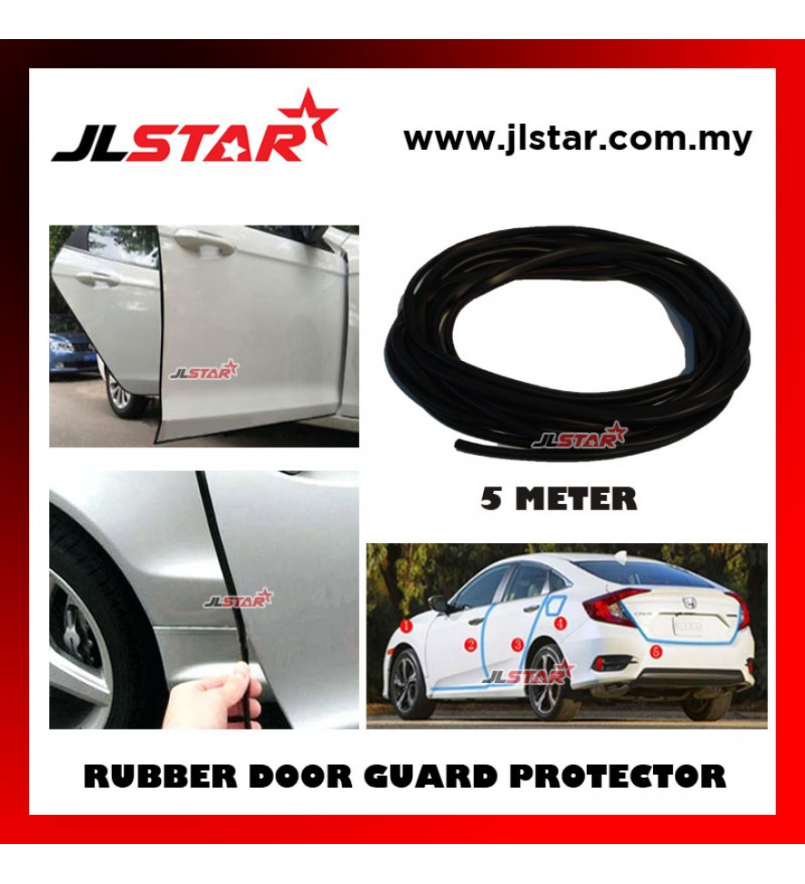 5 METERS UNIVERSAL CAR DOOR EDGE GUARD SCRATCH STRIP PROTECTOR RUBBER SEALING TRIM MOLDING CAR STYLE - BLACK