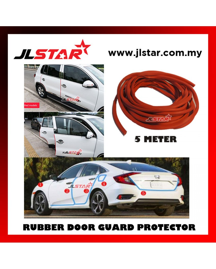 """Car Door Edge Protector 12/"""" Universal Red Scratch Protection Strip Trim x 4"""