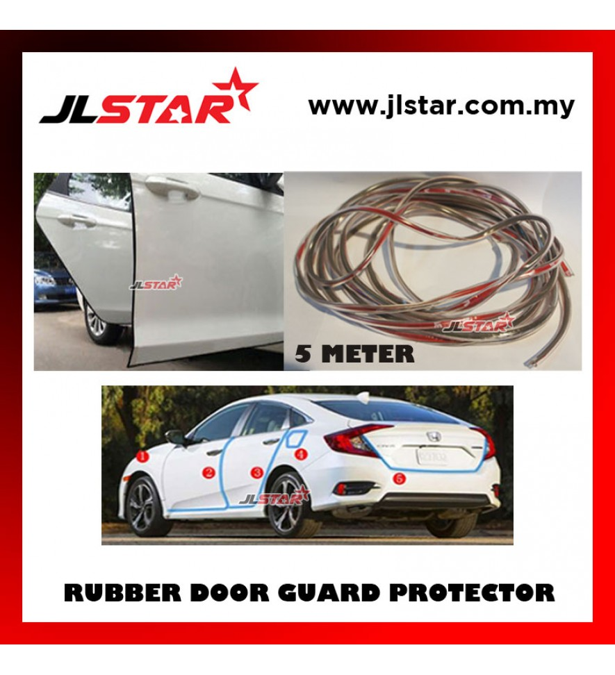 5 METERS UNIVERSAL CAR DOOR EDGE GUARD SCRATCH STRIP PROTECTOR RUBBER SEALING TRIM MOLDING CAR STYLE - TRANSPARENT