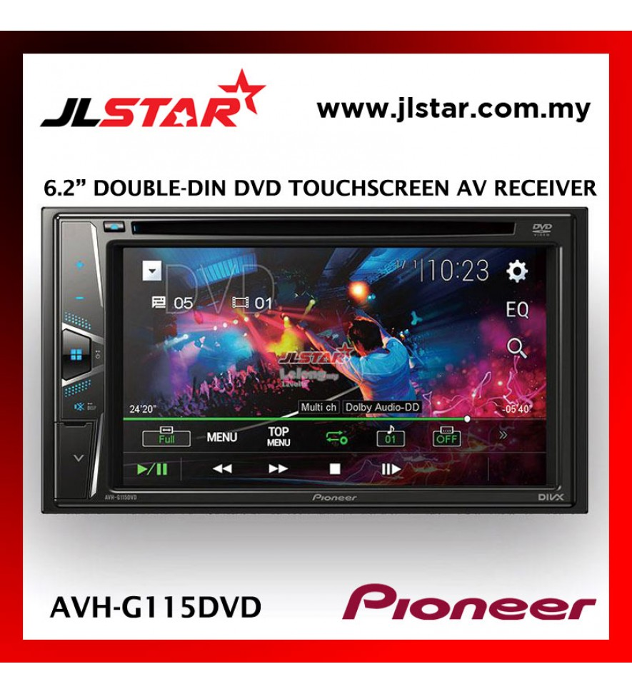 PIONEER AVH-G115 ORIGINAL CAR DVD PLAYER DVD RDS AV RECEIVER