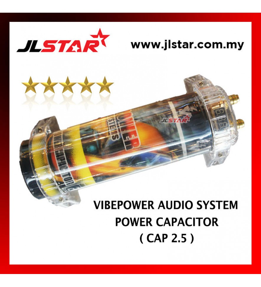 POWER CAPACITOR VIBEPOWER AUDIO SYSTEM 2.5 FARAD