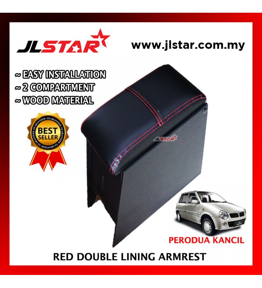 PERODUA KANCIL CUSTOM FIT PVC ARMREST WITH RED LINE