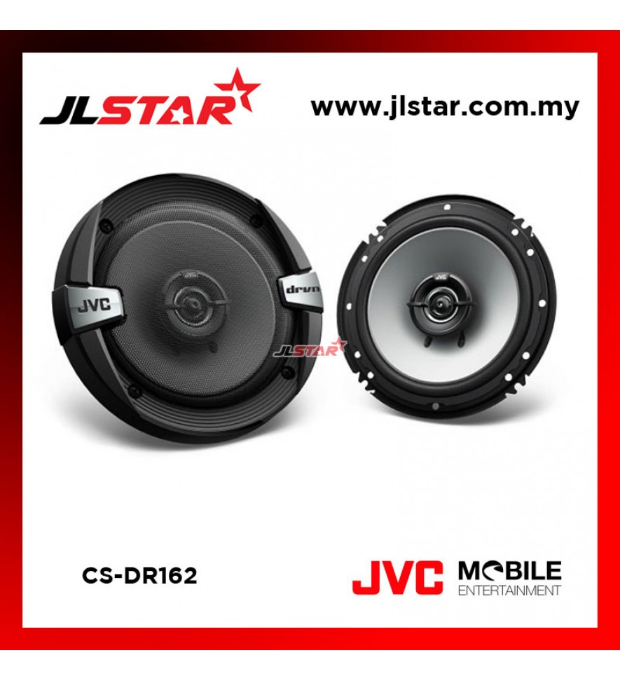 "JVC CS-DR162 16cm (6.1/2"") 2-Way Coaxial Car Speakers"