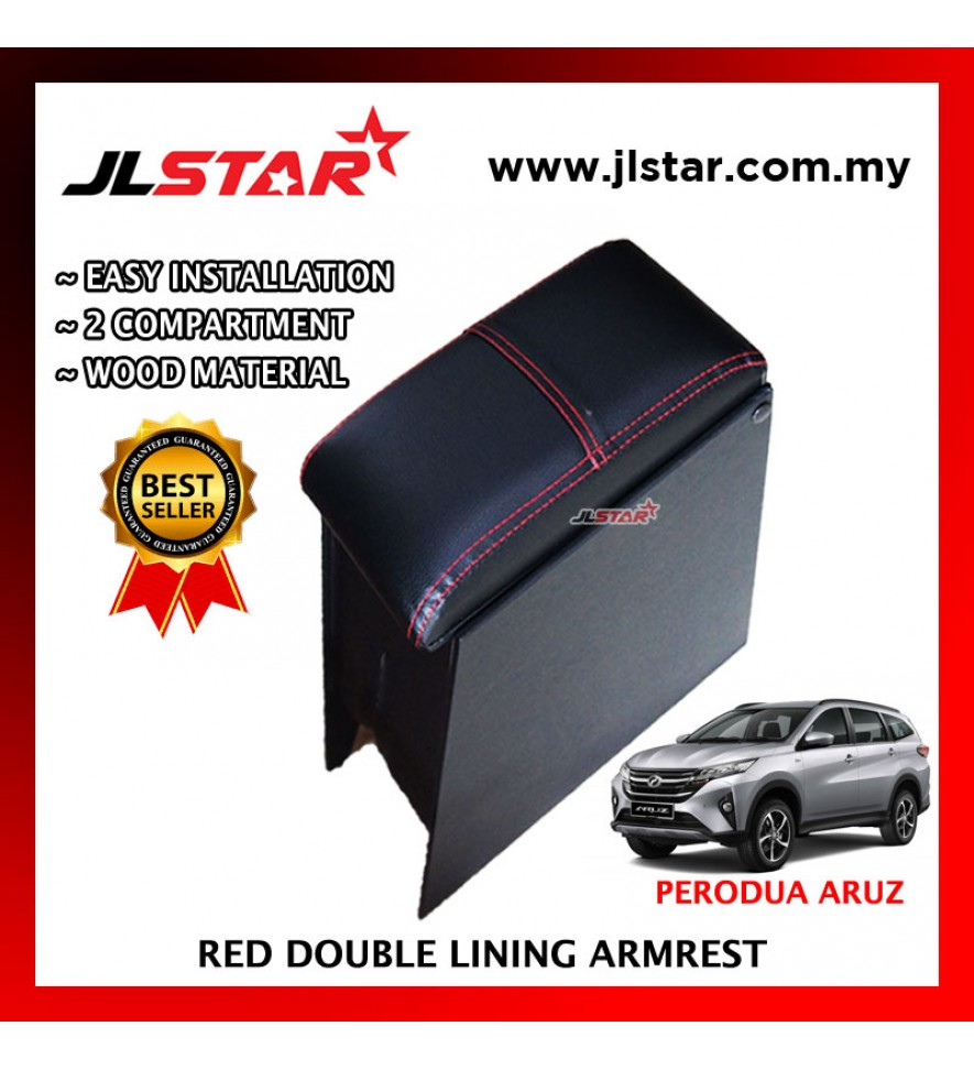 PERODUA ARUZ CUSTOM FIT PVC ARMREST WITH RED LINE