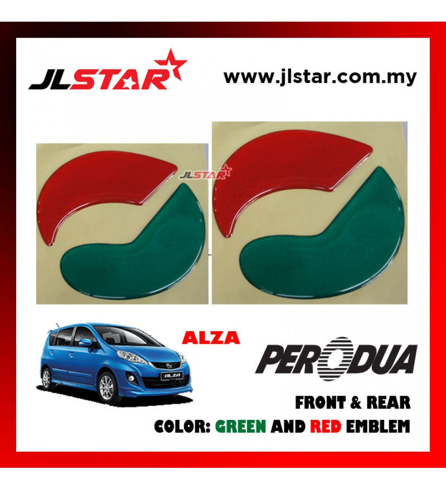 ALZA 2011 EMBLEM LOGO 2PCS FRONT & REAR STICKER