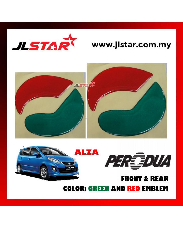 Alza 2014 emblem logo 2pcs front rear sticker