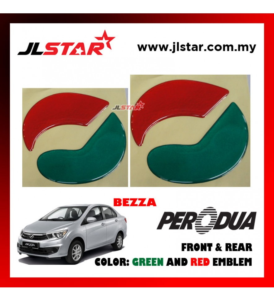 PERODUA BEZZA EMBLEM LOGO 2PCS FRONT & REAR STICKER