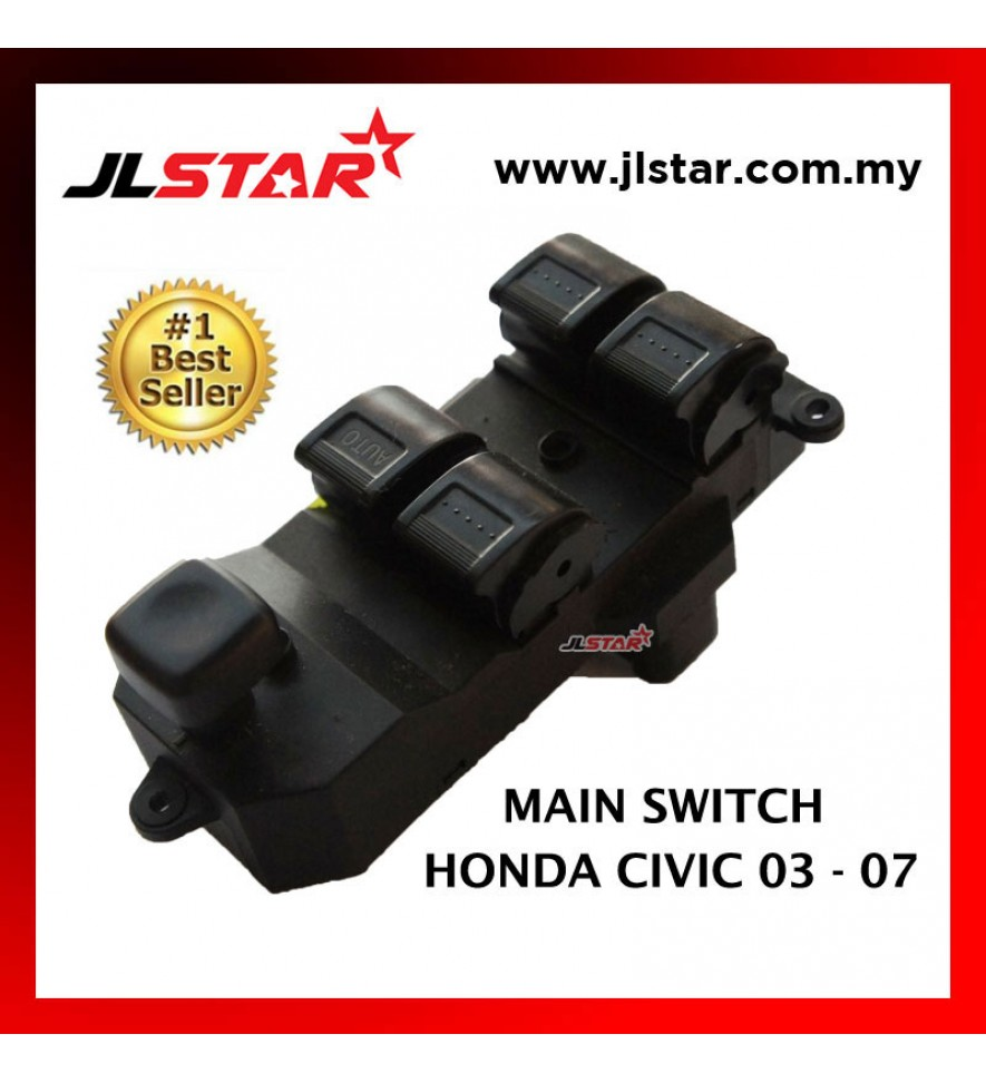 POWER WINDOW MAIN SWITCH PARTS FOR HONDA CIVIC 03-07