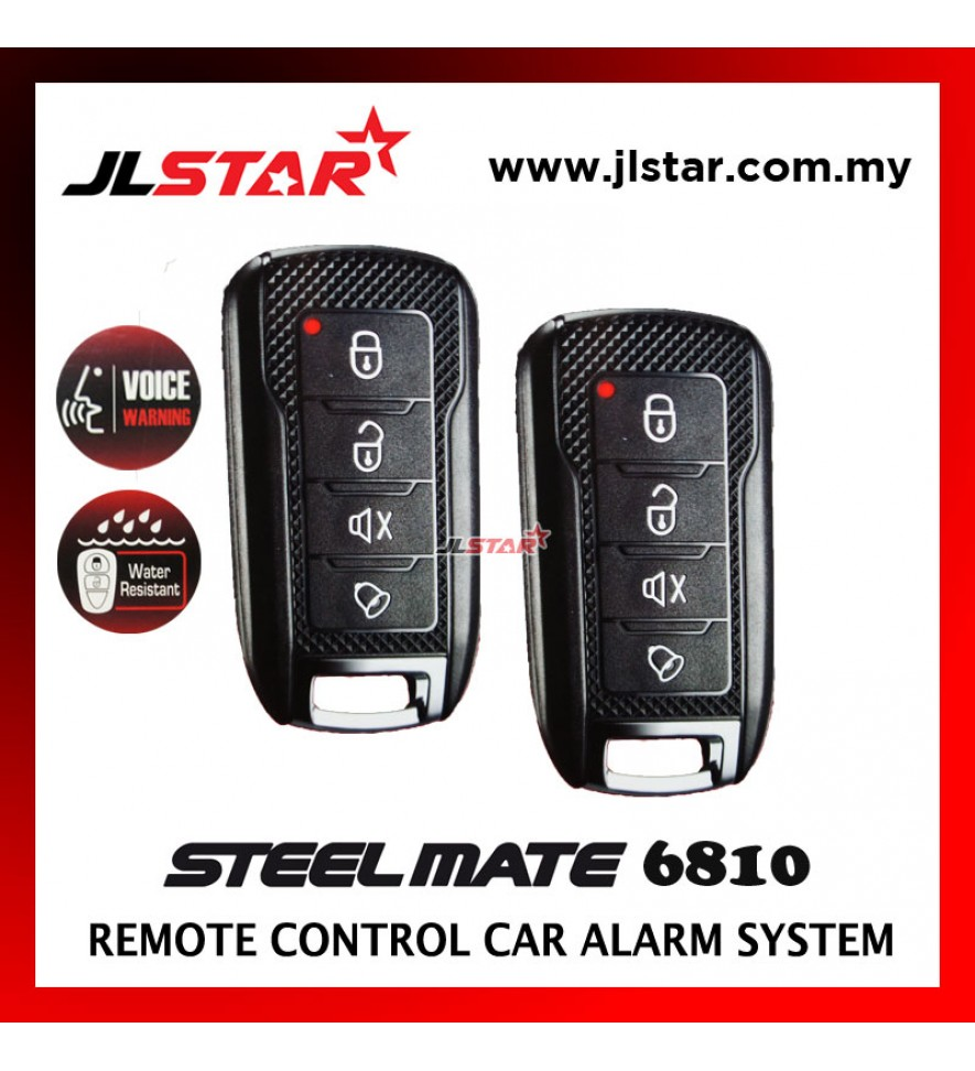 STEELMATE HAOMAI 6810 2 REMOTE CONTROL CAR ALARM SECURITY SYSTEM