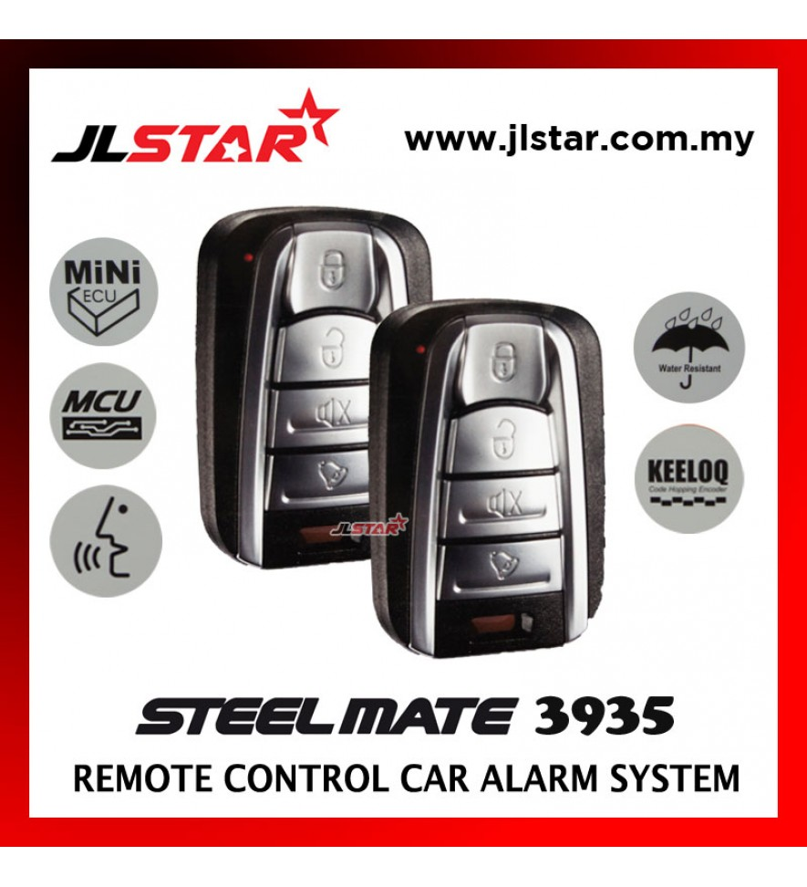 STEELMATE 3935 2 REMOTE CONTROL CAR ALARM SECURITY SYSTEM