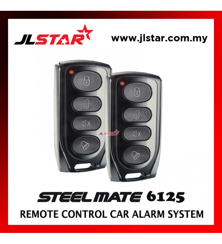 STEELMATE 6125 2 REMOTE CONTROL CAR ALARM SECURITY SYSTEM