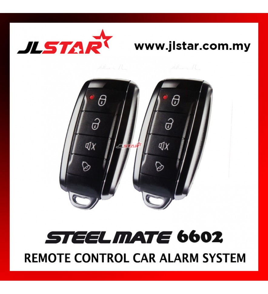 STEELMATE 6602 2 REMOTE CONTROL CAR ALARM SECURITY SYSTEM