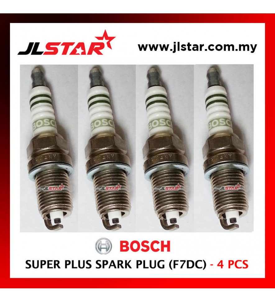 F7DC - BOSCH HIGH QUALITY SUPER PLUS SPARK PLUG 4PCS 1SET