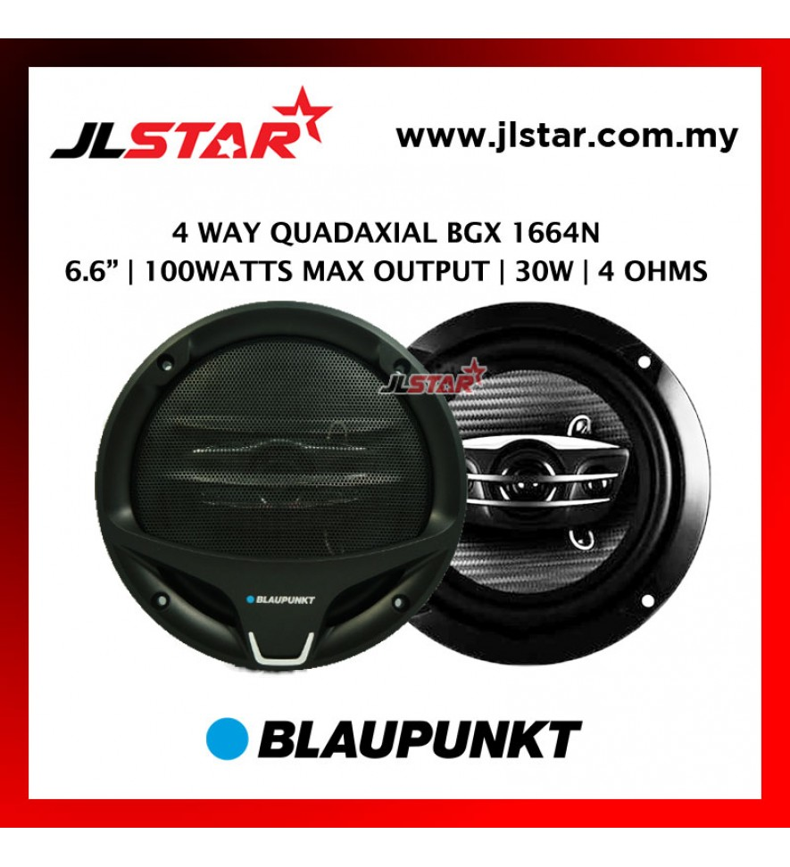 BLAUPUNKT 6.6 INCH BGX 1664N 4 WAY QUADAXIAL 100 WATTS SPEAKER
