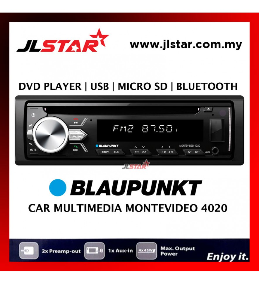 BLAUPUNKT CAR MULTIMEDIA MONTEVIDEO 4020 DVD PLAYER /USB /BLUETOOTH /MICRO SD
