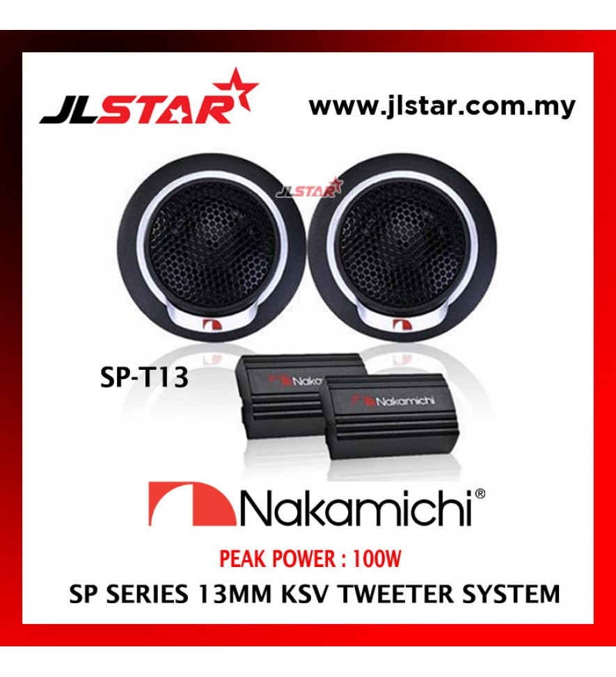 NAKAMICHI SP SERIES SP-T13 13MM KSV CAR SPEAKER CONE TWEETER SYSTEM