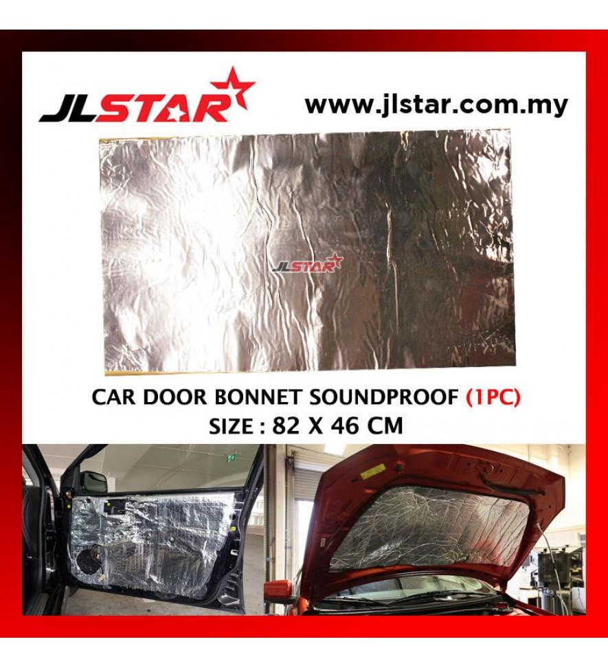 SILVER CAR DOOR BONNET SOUNDPROOF PROOFING DEADENING INSULATION 82 X 46 CM