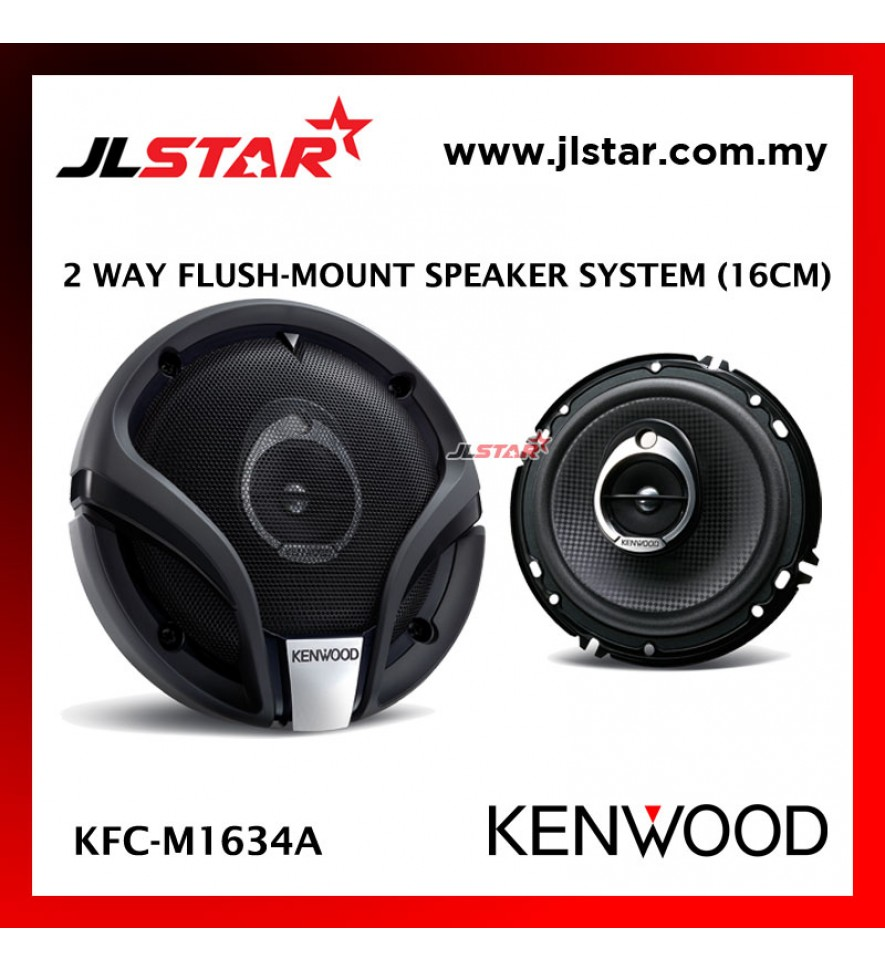 KENWOOD KFC-M1634A 2 WAY FLUSH-MOUNT SPEAKER SYSTEM 16CM