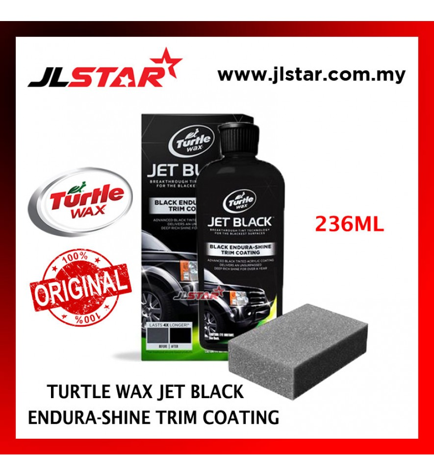 100% ORIGINAL TURTLE WAX JET BLACK ENDURA-SHINE TRIM COATING T-128KT (236ML)