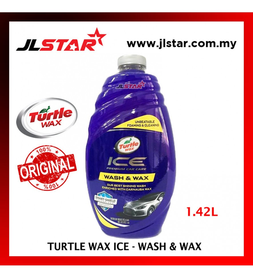 100% ORIGINAL TURTLE WAX ICE WASH AND & WAX T1-472R (1.42L)