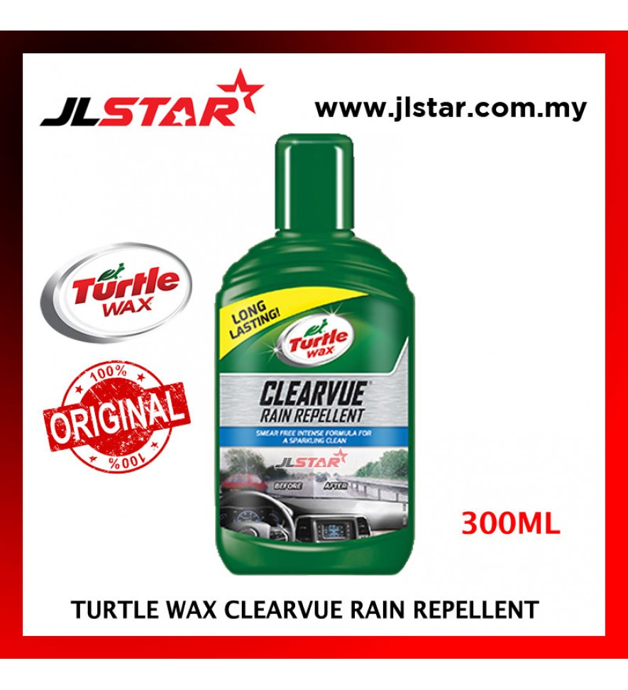 100% ORIGINAL TURTLE WAX CAR CLEARVUE RAIN REPELLENT T-7620 (300ML)