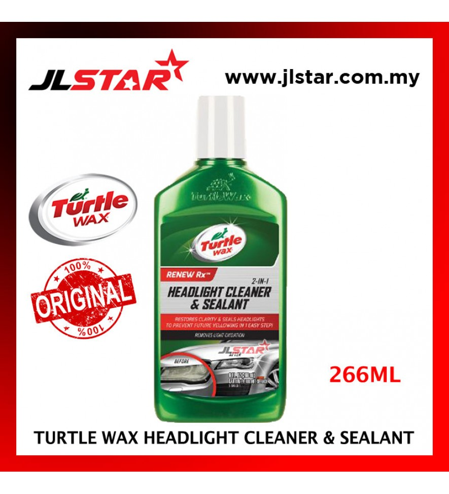 100% ORIGINAL TURTLE WAX CAR 2 IN 1 HEADLIGHT CLEANER AND & SEALANT T-43 (266ML)