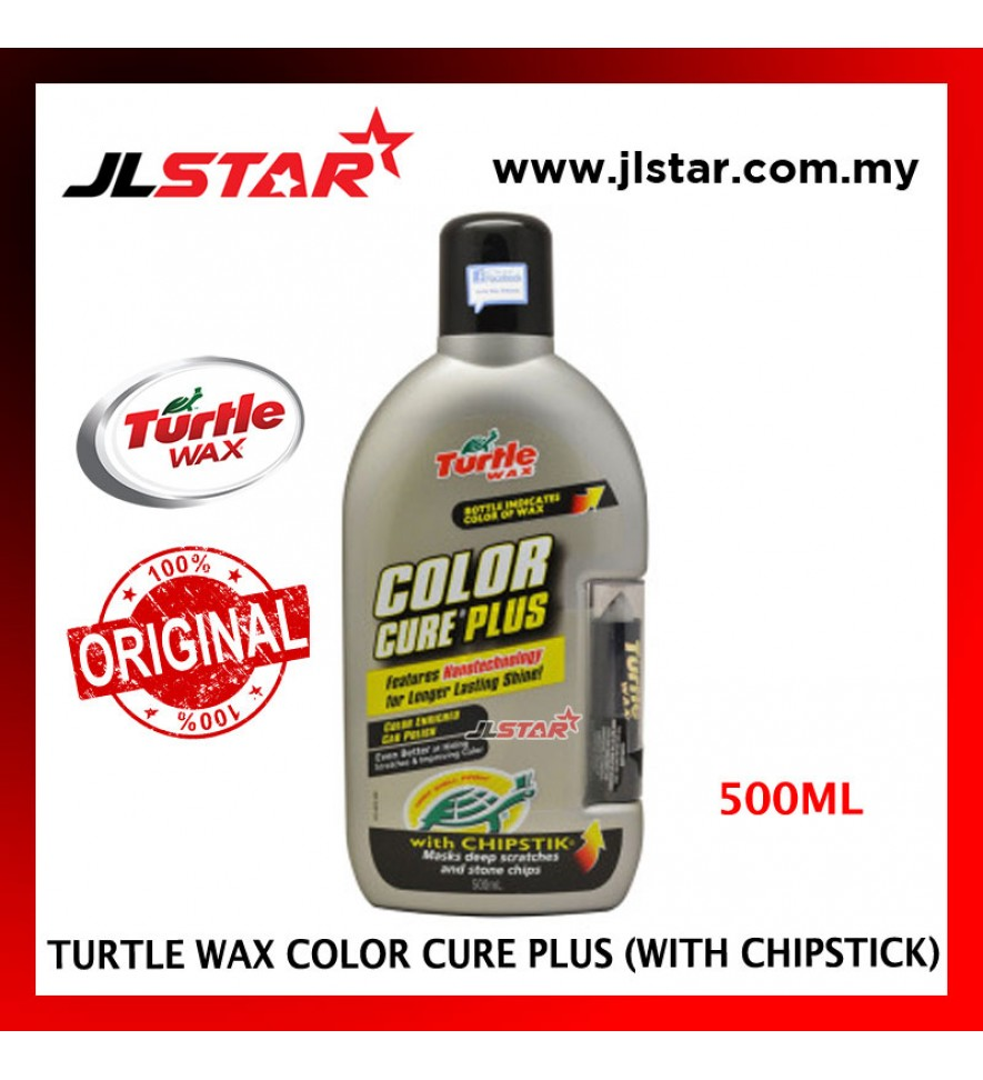 100% ORIGINAL TURTLE WAX CAR COLOR CURE PLUS WITH CHIPSTICK COLOR SILVER T-6077 (500ML)