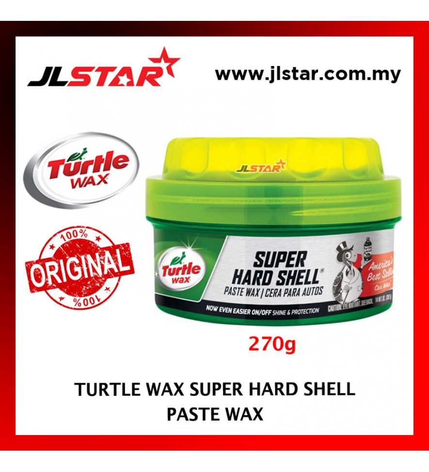 100% ORIGINAL TURTLE WAX CAR SUPER HARD SHELL PASTE WAX T-223 (270G)