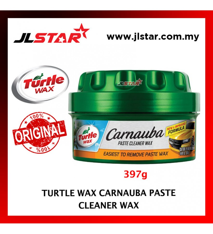 100% ORIGINAL TURTLE WAX CAR CARNAUBA PASTE CLEANER WAX T-5A (397G)